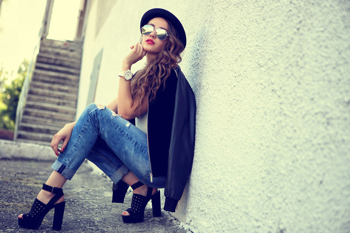 jeansy damskie z wysokim stanem