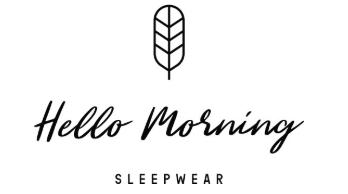 Hello Morning - piżamy damskie z bawełny organicznej
